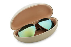 Sunglasses with case Stock Images