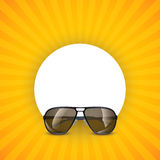 Sunglasses circle 01 Royalty Free Stock Photography