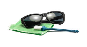 Sunglasses with clean set Stock Images