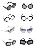 Sunglasses collection isolated on white. Stock Photos