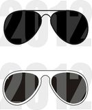 Sunglasses collection trend 2012. Sunglasses trendy collection - fashion, sports, beauty. Vector illustration Stock Photography