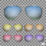 Sunglasses color object Royalty Free Stock Images