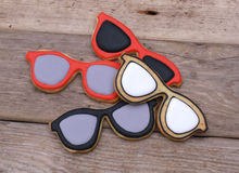 Sunglasses cookies Royalty Free Stock Images