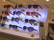 Sunglasses counter Stock Images