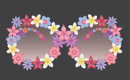Sunglasses decorated with flowers Royalty Free Stock Images