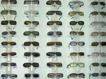 Sunglasses display Stock Photos