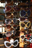 Sunglasses Display. Variety of sunglasses on display for sale Royalty Free Stock Images