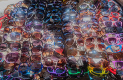 Sunglasses Dozens Street Vendor Royalty Free Stock Images