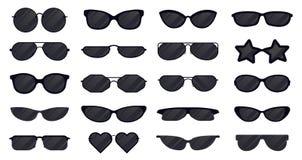 Free Sunglasses Eyewear. Glasses Silhouette, Sun Elegant Eyewear, Black Plastic Spectacles. Sun Lens Eyewear Vector Royalty Free Stock Photo - 179622635