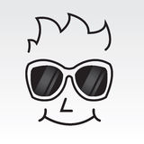 Sunglasses Face Outline Royalty Free Stock Photography