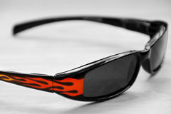 Sunglasses and flames royalty free stock image
