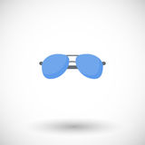 Sunglasses  flat icon Royalty Free Stock Images