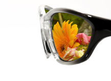 Sunglasses with Flowers Stock Image