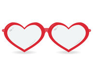 Sunglasses in the form of heart isolated on a white background Royalty Free Stock Photos