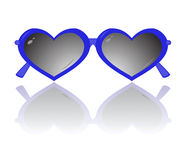 Sunglasses in the form of heart isolated on a white background Stock Photo