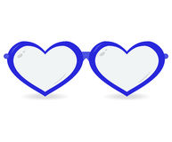 Sunglasses in the form of heart isolated on a white background. Vector icon Royalty Free Stock Photos