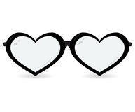 Sunglasses in the form of heart isolated on a white background. Vector icon Stock Images