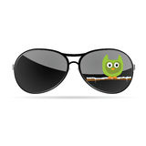 Sunglasses with funny animal color vector Stock Image