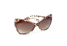 Sunglasses, black glasses, white background Royalty Free Stock Photo