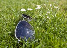 Sunglasses in the grass Stock Photos