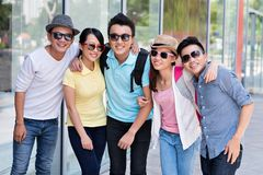 Sunglasses. Group of Asian people wearing sunglasses Stock Image