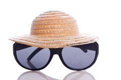 Sunglasses and hat Royalty Free Stock Images