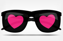 Sunglasses with a heart vector illustration Stock Photography