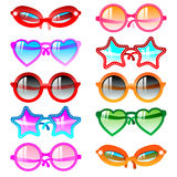 Sunglasses icon set Stock Image