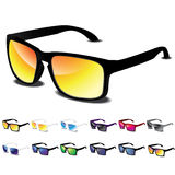 12 Sunglasses  icon set Royalty Free Stock Images