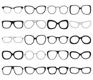 Sunglasses icon set. Different spectacle frames and shapes Stock Image