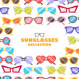 Sunglasses icons background Stock Image