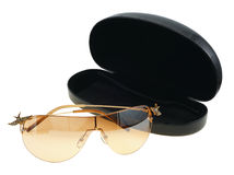 Sunglasses, isolated. Brown sunglasses on a white background, isolated Royalty Free Stock Image