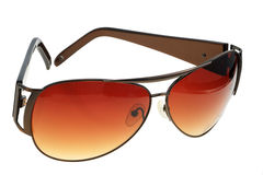 Sunglasses, isolated. Brown sunglasses on a white background, isolated Stock Image