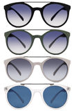 Sunglasses isolated on white in various colors Royalty Free Stock Image