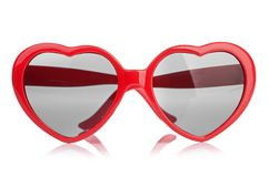 Sunglasses like a heart Royalty Free Stock Photo