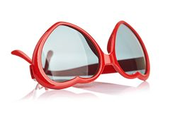 Sunglasses like a heart Royalty Free Stock Images