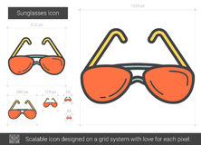 Sunglasses line icon. Royalty Free Stock Image