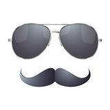 Sunglasses with mustache Royalty Free Stock Images