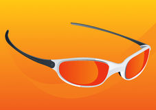 Sunglasses Orange. Orange Sunglasses Cool Vector Drawing Royalty Free Illustration
