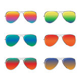 Sunglasses with palms Royalty Free Stock Images