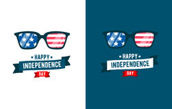 Sunglasses patriot. independence day 4th of July. Typographic design.United Stated Fourth of July vector illustration Stock Image