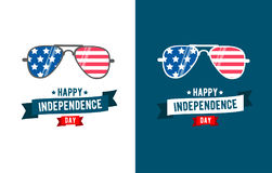 Sunglasses patriot. independence day 4th of July. Typographic design.United Stated Fourth of July vector illustration Royalty Free Stock Image