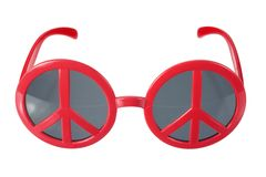 Sunglasses with Peace Sign Royalty Free Stock Image
