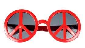 Sunglasses with Peace Sign Royalty Free Stock Photos