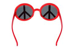 Sunglasses with Peace Sign Royalty Free Stock Photo