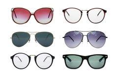 Sunglasses photo set. Eyeglasses collection isolated on white background, Sunglasses photo set royalty free stock image