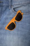 Sunglasses in a pocket Stock Images