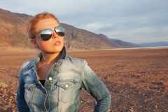In sunglasses Stock Photo