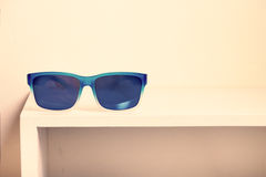 Sunglasses on the rack. Royalty Free Stock Photo