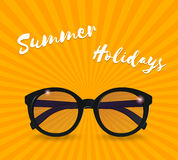 Sunglasses realistic icon. Summer background. Vector Stock Photo